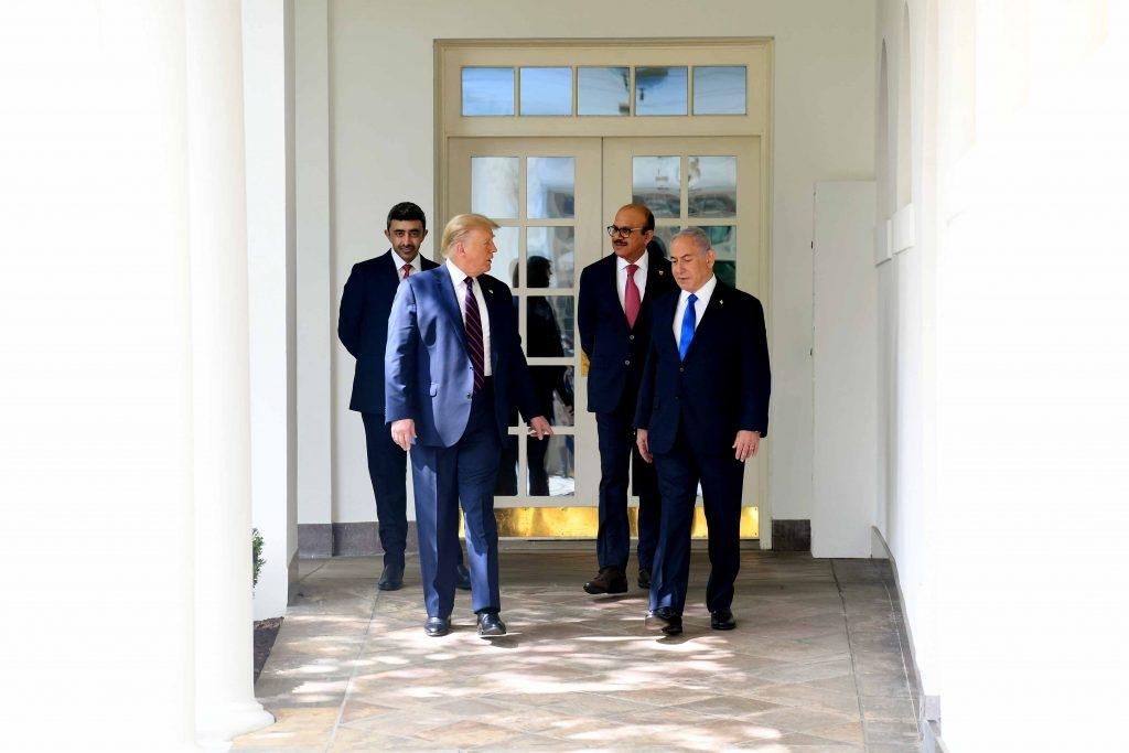 הסכם שלום דונלד טראמפ נשיא ראש הממשלה בנימין נתניהו הסכם הסכם אברהם איחוד האמירויות הערביות בחריין