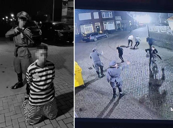 הולנד: צעירים התחפשו לנאצים וחיקו ירי על יהודי