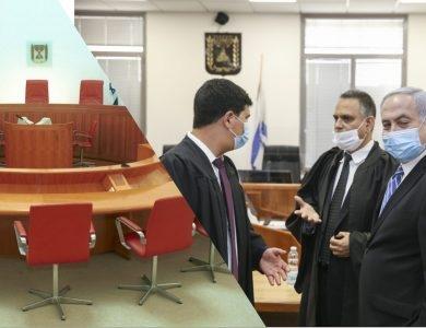 עורכי דינו של נתניהו בהתייעצות - אולם הדיונים בבית המשפט העליון / צילום: פלאש90
