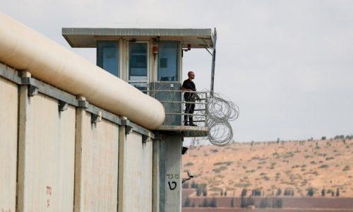 מגדל שמירה בכלא גלבוע /// צילום : פלאש 90