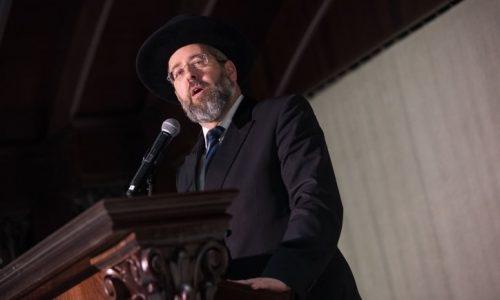 הרב הראשי הרב דוד לאו /// יונתן סינדל / פלאש 90
