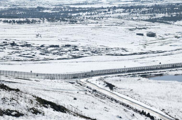 הגבול עם סוריה מושלג /////Gili Yaari/Flash90