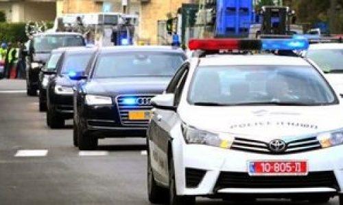 שיירת ראש ההמשלה | צילום: משטרת ישראל