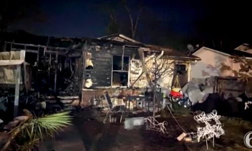 הבית שנשרף בטקסס | צילום מסך יוטיוב