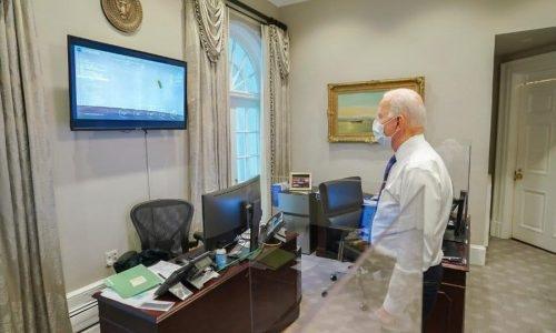 ביידן עוקב אחרי הדיווחים
