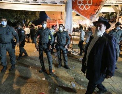 כוחות הצלה ומשטרה במקום לאחר אירוע הטראגי באסון מירון מירון, צילום דוד כהן / פלאש 90