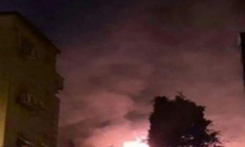 פיצוץ בשמי דמשק, סוריה (צילום: אתר רשמי)