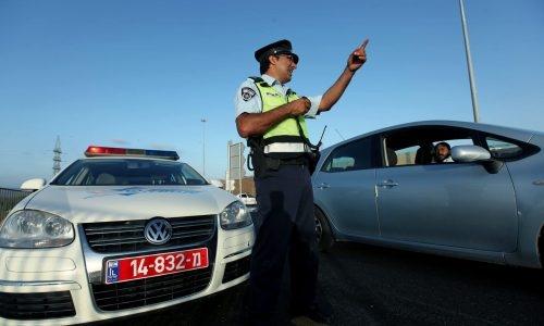 שוטר משטרת התנועה בפעולה. אילוסטרציה // פלאש 90