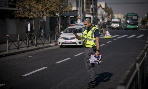 שוטר תנועה (אילוסטרציה) | צילום:  Yonatan Sindel/Flash90
