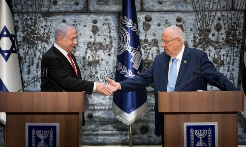 הנשיא ריבלין מטיל על נתניהו את המנדט בבחירות 2020   צילום: Yonatan Sindel/Flash90