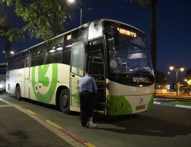 אוטובוס מחברת אפיקים, ארכיון |צילום:  Sraya Diamant/Flash90