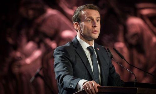 נשיא צרפת עמנואל מקרון // צילום: יונתן סינדל - פלאש 90