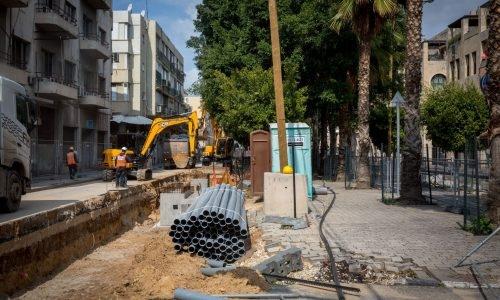 עבודות הרכבת הקלה בתל אביב | צילום: פלאש 90