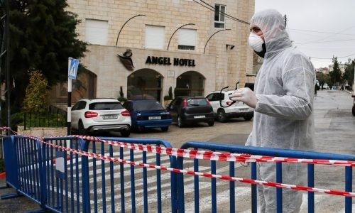 מלונית קורונה   צילום: Wisam Hashlamoun/Flash90