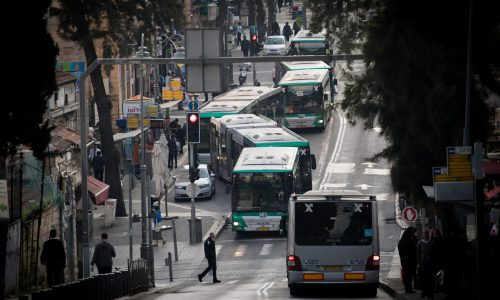 תחבורה ציבורית בירושלים | צילום: יונתן סינדל / פלאש90