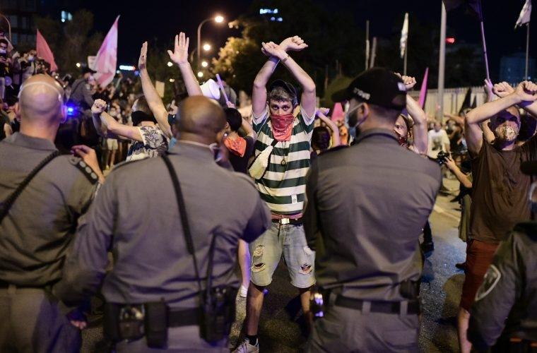 הפגנה    צילום: Tomer Neuberg/Flash90