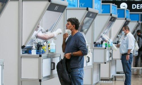 בדיקות קורונה בנמל התעופה בן גוריון (אילוסטרציה) // צילום פלאש 90