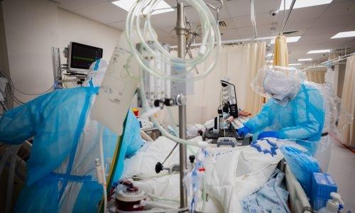 מחלקת קורונה בבית חולים  | צילום: Olivier Fitoussi/Flash90