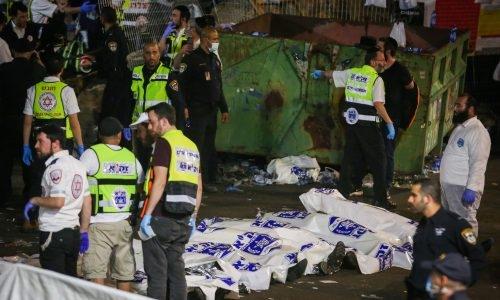 גופות ההרוגים באסון במירון // צילום: פלאש 90
