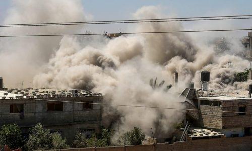 תקיפת חיל האויר ברצועת עזה | צילום: Abed Rahim Khatib/FLASH90