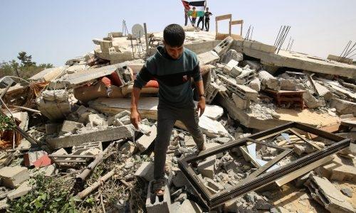 ההרס מתקיפת חיל האוויר בעזה | צפו: Abed Rahim Khatib/Flash90