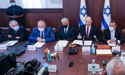 שולחן הקבינט | צילום: MARC ISRAEL SELLEM/POOL