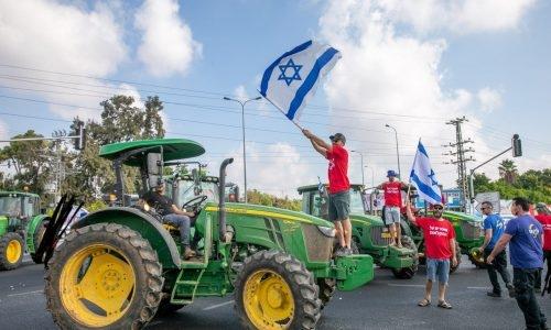 מחאת החקלאים /// צילום :יוסי אלוני / פלאש 90