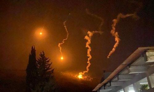 פצצות תאורה הערב בגבול לבנון