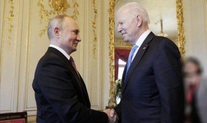 נשיא ארצות הברית ג'ו ביידן ונשיא רוסיה ולדימיר פוטין