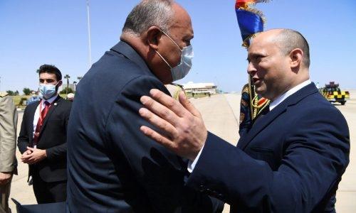 ביקור ראש ממשלת ישראל נפתלי בנט במצריםעם סאמח שוקרי שר החוץ המצריPhoto by Kobi Gideon / GPO