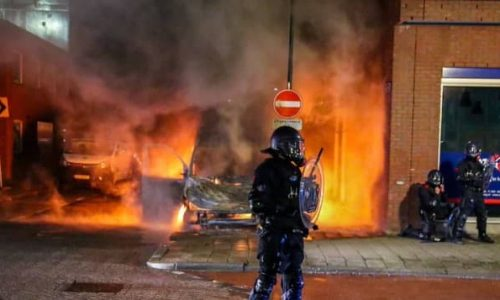לילה של מהומות בהולנד