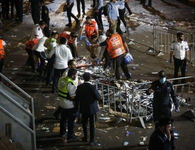 זירת אסון מירון   צילום: פלאש 90