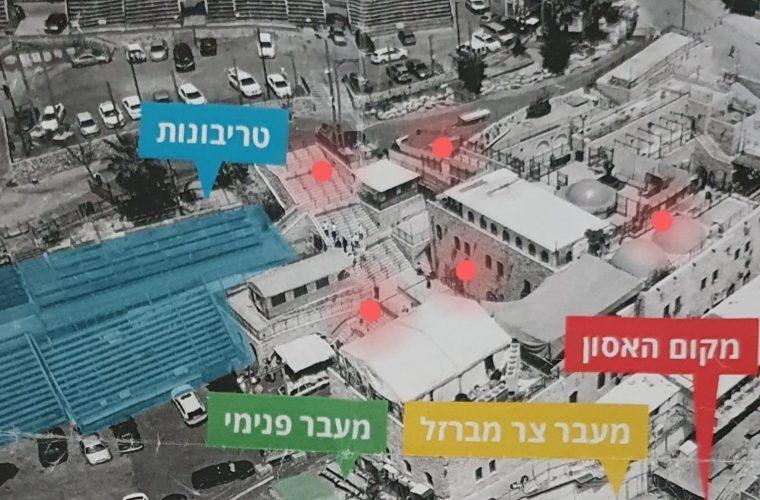 המפה: צילום: יהודה רוזן