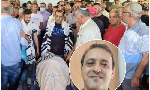 הלווית יגאל יהושע   צילום: כאן חדשות
