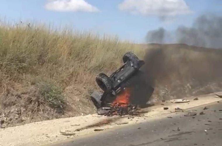 התאונה הקשה   צילום: רשתות חברתיות
