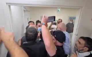 העימות בפתח חדר המחבל// צילום: דוברות עוצמה יהודית