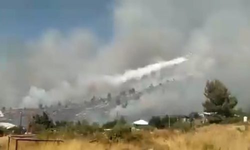 שריפה מטוס כיבוי